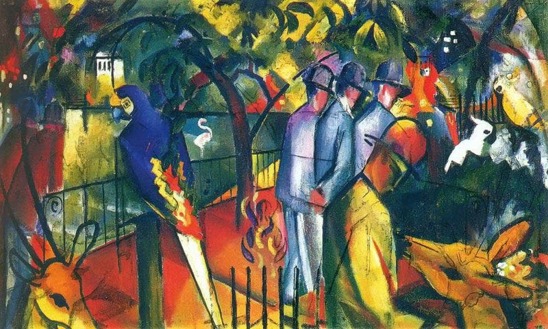 Zoological Garden I By August Macke