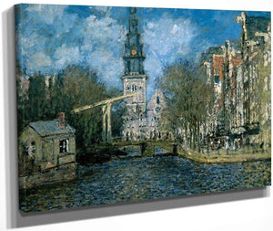 Zuiderkerk At Amsterdam Looking Up The Groenburgwal By Monet Claude