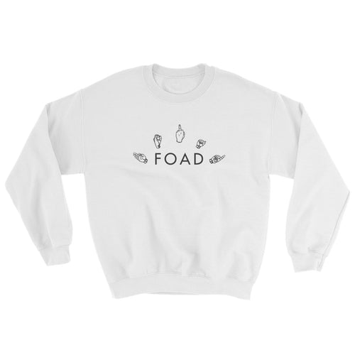 Gang Signs White Sweatshirt