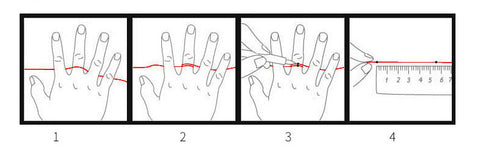 How to measure your finger- Jewels Japan