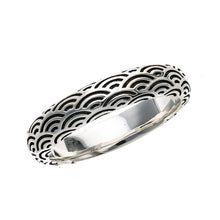 Load image into Gallery viewer, Silver Seigaiha Pattern Ring  (14-2464)
