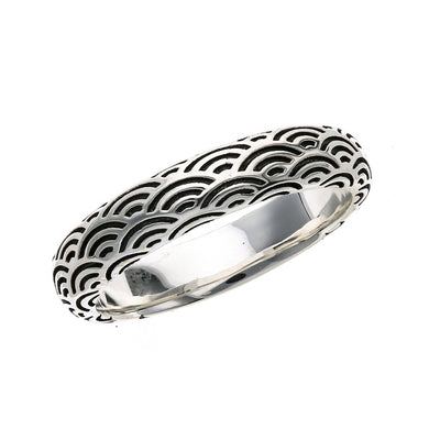 Silver Seigaiha Pattern Ring  (14-2464)