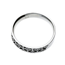Load image into Gallery viewer, Silver Edokiriko Pattern Ring (14-2465)
