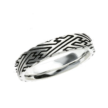 Load image into Gallery viewer, Silver Sayagata pattern Ring (14-2466)