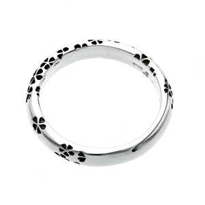 Silver Sakura Pattern Ring (14-2468)
