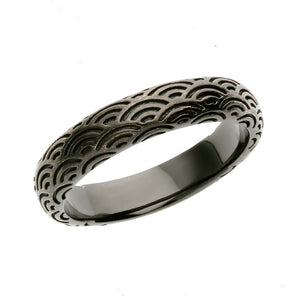 Silver Seigaiha Pattern Ring  (14-2473)