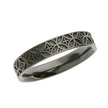 Load image into Gallery viewer, Silver Edokiriko Pattern Ring (14-2474)