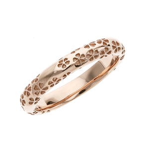 Silver Sakura Pattern Ring (14-2477)