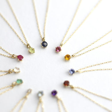 10 Karat Gold birthstone Necklace(60-8041-8052)