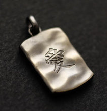 "Silver Kanji letter Necklace(64-2678)    <p><strong><span style=""color: #ff0000;"">FREE SHIPPING</span></strong></p>"
