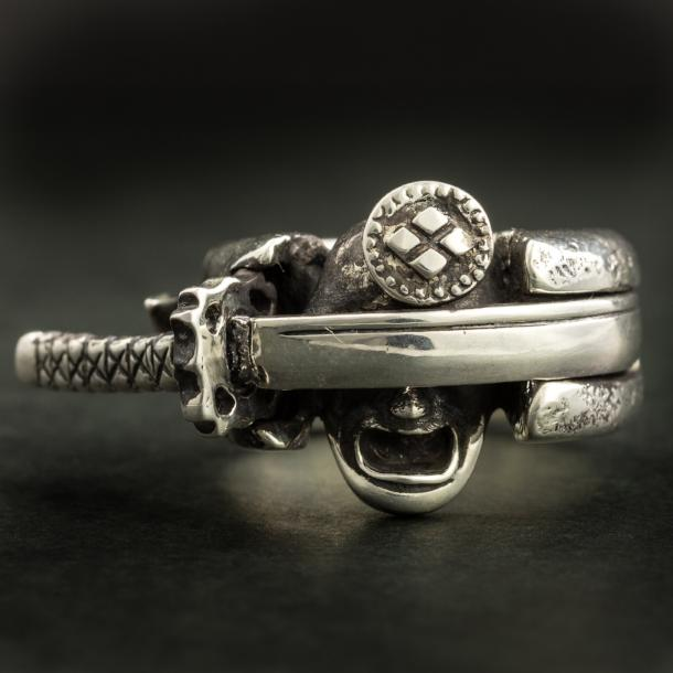 Samurai and the Sword Ring(14-2370)-Ring-Samurai-Jewels Japan