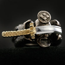 Load image into Gallery viewer, Samurai and the Sword Ring (14-2371)-Ring-Samurai-Jewels Japan