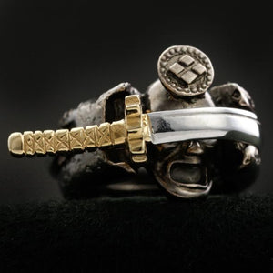 Samurai and the Sword Ring (14-2371)-Ring-Samurai-Jewels Japan