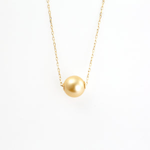 18 Karat Yellow Gold with Golden Pearl of Japan Sea Necklace (67-8591)