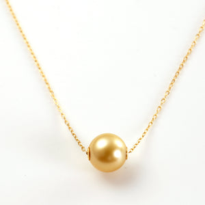 18 Karat Gold Golden Pearl of Japan Sea Necklace (67-8591)-Necklace-Jewels Japan