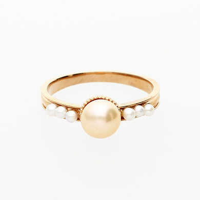 18 Karat Pink Gold/Fresh Water Pearl Ring (31-1994)