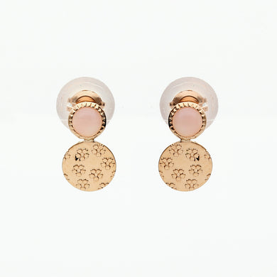 10 Karat Pink Gold/Pink Opal Sakura Earrings (43-1016)
