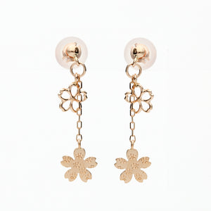 10 Karat Pink Gold Sakura Earrings (43-1020)