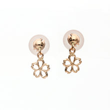 Load image into Gallery viewer, 10 Karat Pink Gold Sakura Earrings (43-1184)