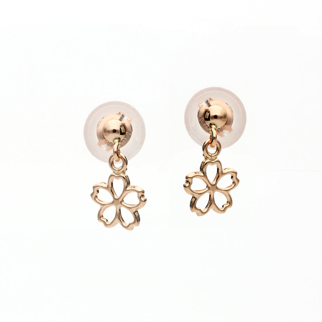 10 Karat Pink Gold Sakura Earrings (43-1184)