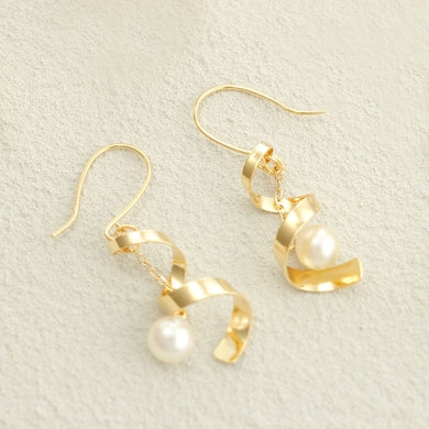 18 Karat Gold Akoya Pearl Earrings (46-5823)-Earring-Jewels Japan
