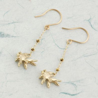 10 Karat Gold Earring (46-7910)-Earring-Jewels Japan