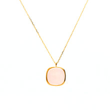 18 Karat Gold/Rose Quartz Necklace (63-0919)