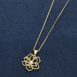 18 Karat Yellow gold diamond Necklace  (63-3035)