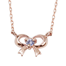 Load image into Gallery viewer, 10 Karat Gold Birthstone Ribbon Necklace(66-2214-2225)-Necklace-Jewels Japan