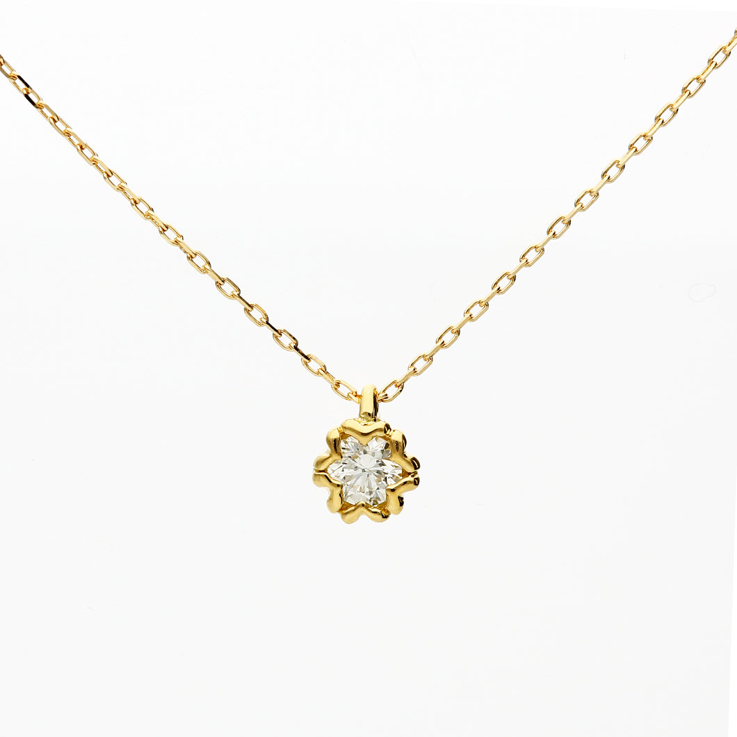 18 Karat Gold/Diamond Sakura Necklace (66-2605)