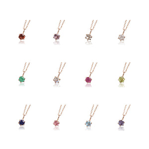 10 Karat Gold Birthstone Necklace-Necklace-Jewels Japan