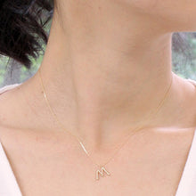 Load image into Gallery viewer, 10 Karat Gold Initial Necklace-Necklace-Jewels Japan