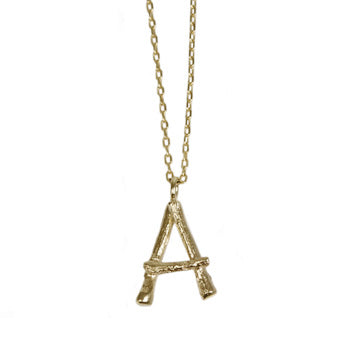 10 Karat Gold Initial Necklace-Necklace-Jewels Japan