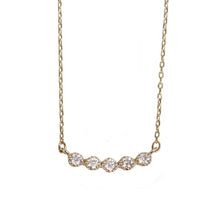 Load image into Gallery viewer, 10 Karat Gold Diamond Line Necklace (95-0807)-Necklace-Jewels Japan