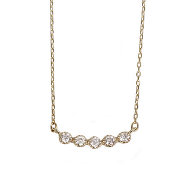 10 Karat Gold Diamond Line Necklace (95-0807)-Necklace-Jewels Japan
