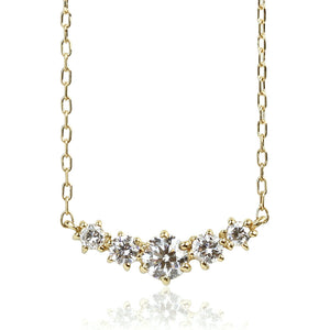 18 Karat Gold Diamond Line Necklace (95-0990)-Necklace-Jewels Japan