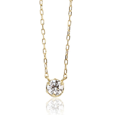 18 Karat Gold Diamond Necklace (95-0991)-Necklace-Jewels Japan