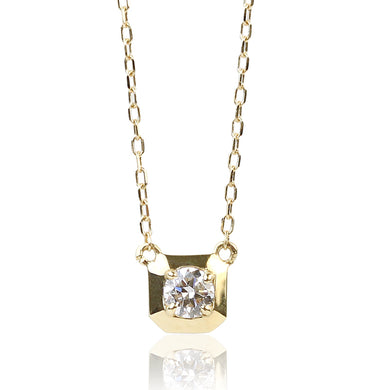 18 Karat Gold Diamond Square Necklace (95-0998)-Necklace-Jewels Japan