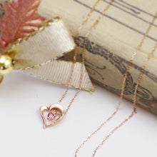 Load image into Gallery viewer, 10 Karat Gold Topaz Heart Necklace (95-1038)-Necklace-Jewels Japan