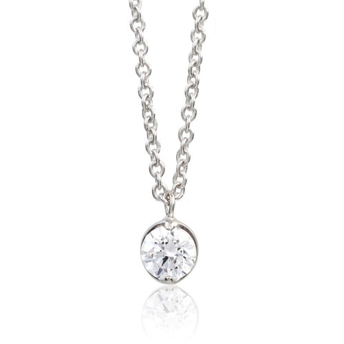 SV925 Swarovski Zirconia Necklace (95-1042)-Necklace-Jewels Japan