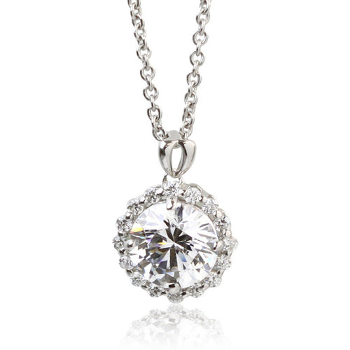 SV925 Swarovski Zirconia Necklace (95-1044)-Necklace-Jewels Japan