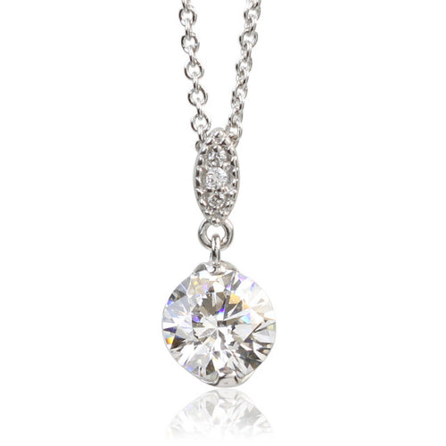 SV925 Swarovski Zirconia Necklace (95-1045)-Necklace-Jewels Japan