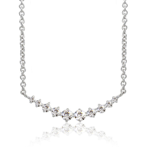 SV925 Swarovski Zirconia Necklace (95-1046)-Necklace-Jewels Japan