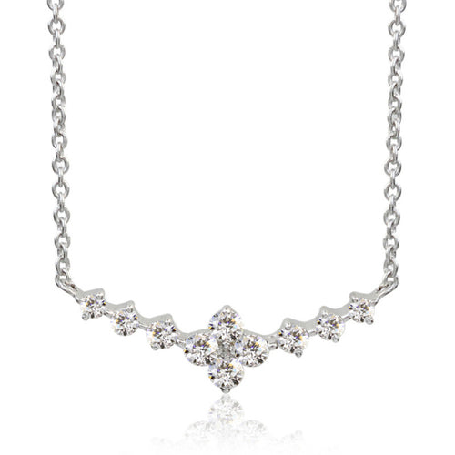 SV925 Swarovski Zirconia Necklace (95-1047)-Necklace-Jewels Japan