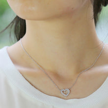 Load image into Gallery viewer, SV925 Swarovski Zirconia Heart Necklace (95-1048)-Necklace-Jewels Japan