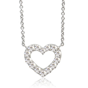 SV925 Swarovski Zirconia Heart Necklace (95-1048)-Necklace-Jewels Japan