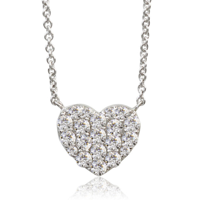 SV925 Swarovski Zirconia Necklace (95-1051)-Necklace-Jewels Japan