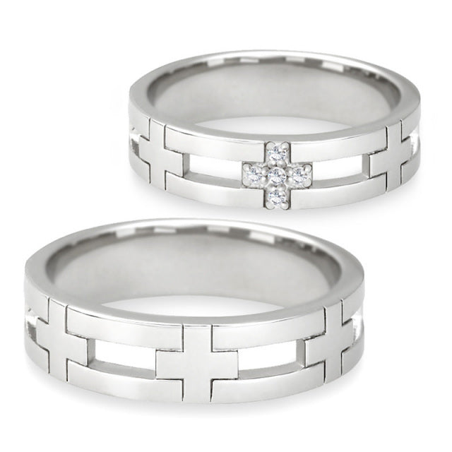 Closs Pair rings | Couple sets 95-2020-2021-Ring-Jewels Japan