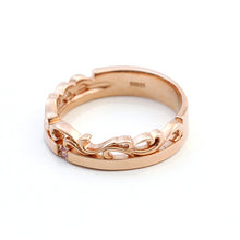 Crown Heart Pair Ring (PinkGold / Black Coating) | Men's & Lady's (Set) 95-2097-2096