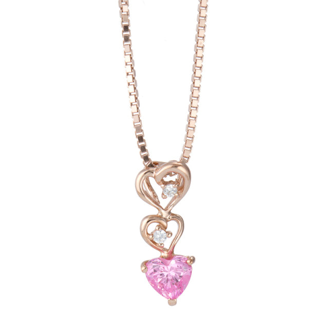 SV925 Heart Necklace (95-2341)-Necklace-Jewels Japan
